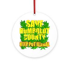 save_humboldt_SHIRT_DK_cp Round Ornament