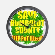 save_humboldt_SHIRT_DK_cp Wall Clock