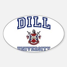 DILL University Oval Decal