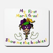 mardi gras baby Mousepad