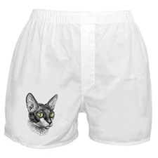 Cornish Rex for darks Boxer Shorts