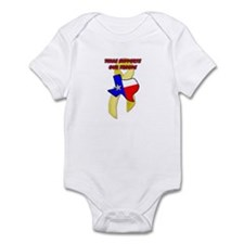 Texas Supports Our Troops Infant Bodysuit