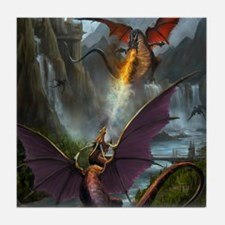 459_ipad_case-DragonsPlay-01 Tile Coaster