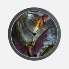 459_ipad_case-DragonsPlay-01 Wall Clock