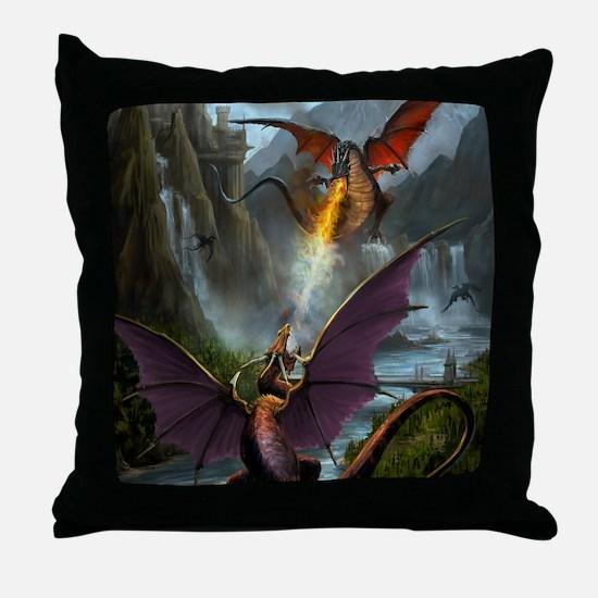 459_ipad_case-DragonsPlay-01 Throw Pillow