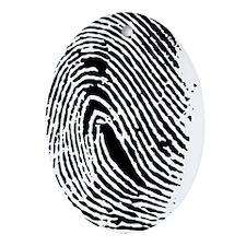 Fingerprint Oval Ornament