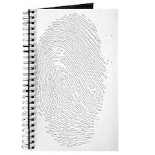 fingerprint - white Journal