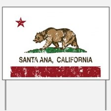 california flag santa ana distressed Yard Sign