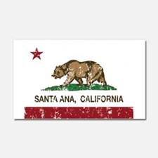 california flag santa ana distressed Car Magnet 20