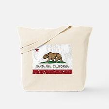 california flag santa ana distressed Tote Bag