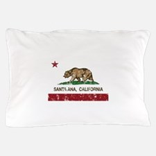 california flag santa ana distressed Pillow Case