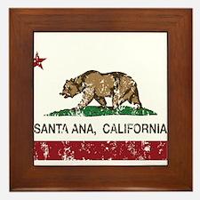 california flag santa ana distressed Framed Tile