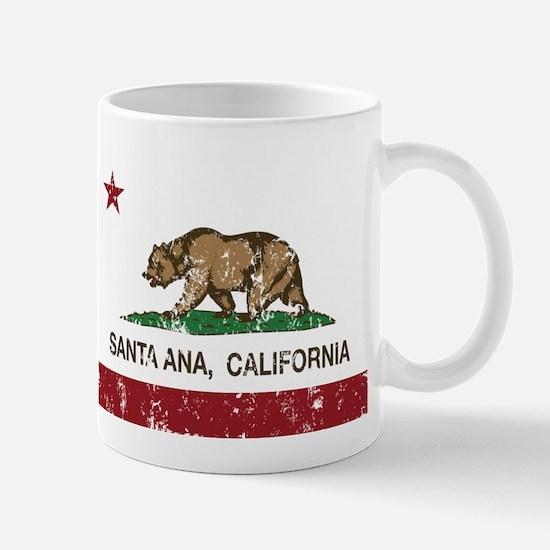 california flag santa ana distressed Mugs