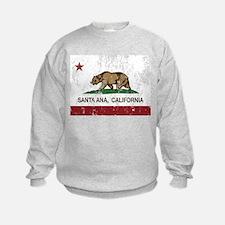 california flag santa ana distressed Sweatshirt
