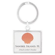 Sanibel-Shell Landscape Keychain
