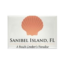 Sanibel-Shell Rectangle Magnet
