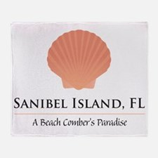 Sanibel-Shell Throw Blanket