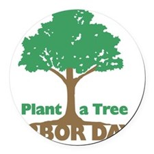 Plant a Tree Arbor Day Round Car Magnet