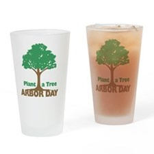 Plant a Tree Arbor Day Drinking Glass