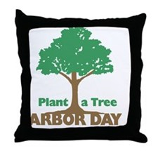 Plant a Tree Arbor Day Throw Pillow