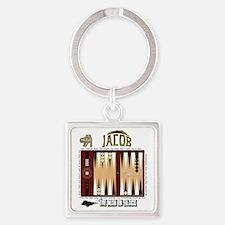 LOST Backgammon Square Keychain