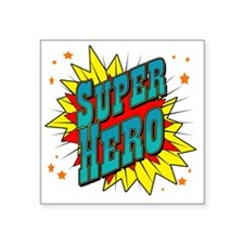 "superhero Square Sticker 3"" x 3"""