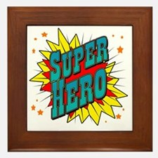 superhero Framed Tile