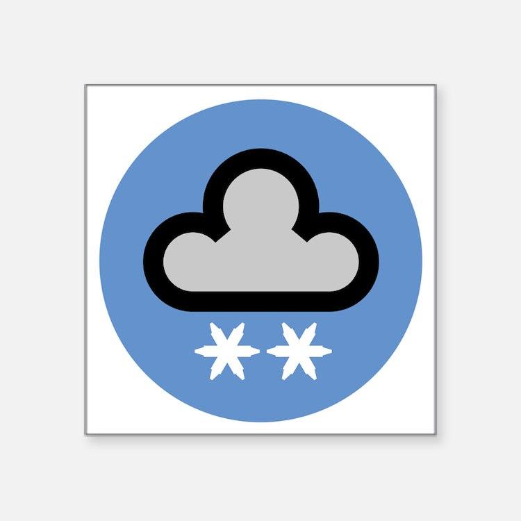 "snow2disc Square Sticker 3"" x 3"""