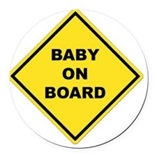 BABYONBOARD Round Car Magnet