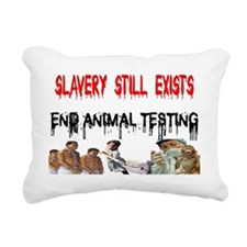 slavery is alive and wel Rectangular Canvas Pillow
