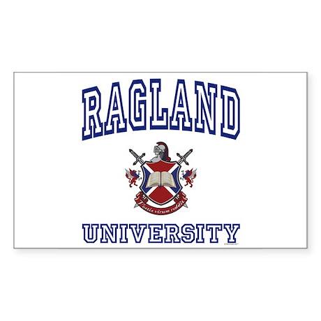 RAGLAND University Rectangle Sticker