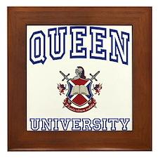 QUEEN University Framed Tile