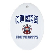QUEEN University Oval Ornament