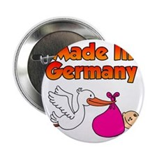 """Made In Germany Girl 2.25"""" Button"""