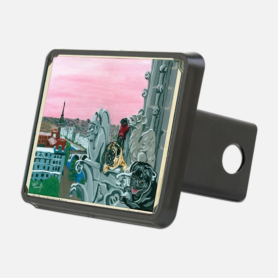 Traveling Pugs Notre Dame  Hitch Cover