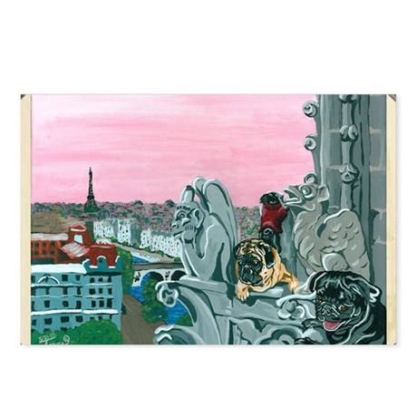 Traveling Pugs Notre Dame Postcards (Package of 8)