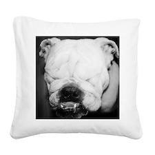 Funny I love bulldogs Square Canvas Pillow