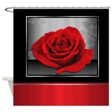 Rich and Elegant Red Rose Shower Curtain