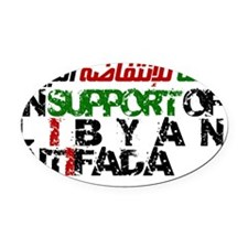 Libyan Intifada Oval Car Magnet