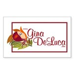Gina DeLuca Rectangle Sticker
