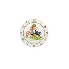 ALICE_WHITE RABBIT CLOCK Mini Button