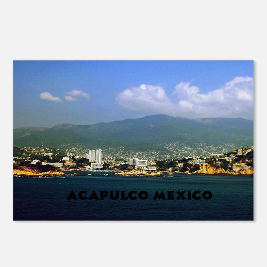 acapulco label12x18 Postcards (Package of 8)