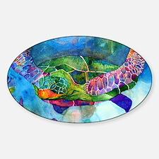 sea turtle full Sticker (Oval)