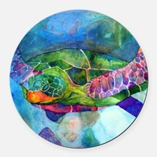 sea turtle full Round Car Magnet