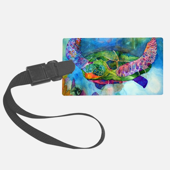 sea turtle full Luggage Tag