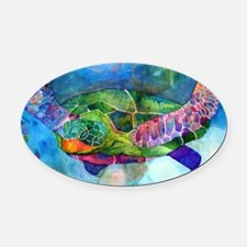 sea turtle full Oval Car Magnet