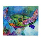 Colorful fish Fleece Blankets
