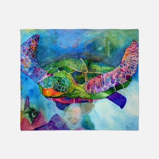 sea turtle full Throw Blanket