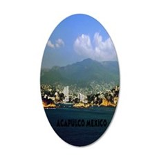 acapulco label5.5x8.5 35x21 Oval Wall Decal