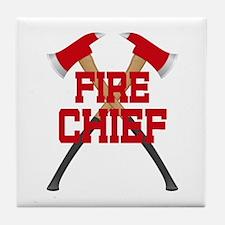 Fire Axes Firefighter Tile Coaster